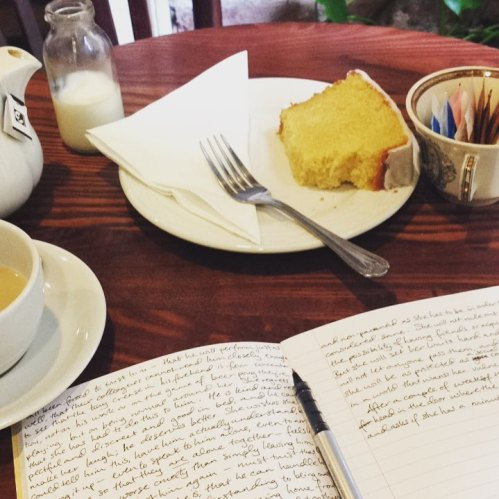writing cafe